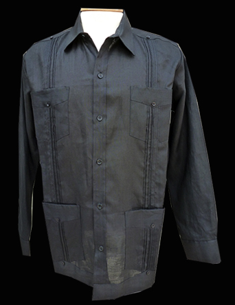 Black Linen-Long Sleeve-Size Large/40