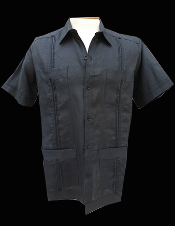 Black Linen-Short Sleeve-Size Large/40