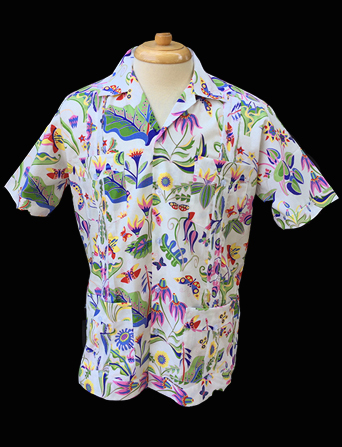 Blancas Garden-Short Sleeve-Size Small/36