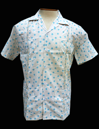 Elegant Polka Dot-Short Sleeve-Size Medium/38