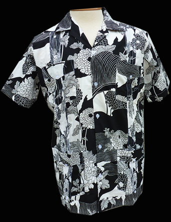 Fifties Chinese, Black n White-Short Sleeve-Size Large/40