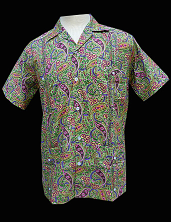 Flower Paisley-Short Sleeve-Size Small/36