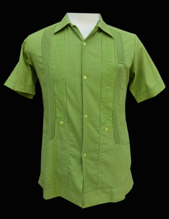 Green Linen Stitch-Short Sleeve-Size Ex-Small/34
