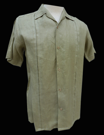 Kakhi Linen-Short Sleeve-Size Medium/38