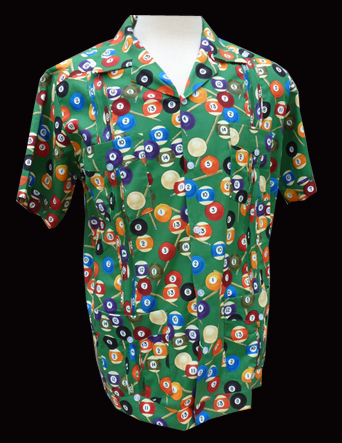 Pool Balls-Short Sleeve-Size Large/40