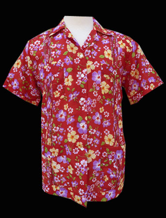 Red Flower- Short Sleeve- Size 38