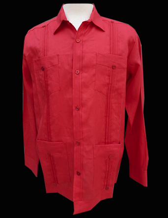 Red Linen-Long Sleeve-Size Large/40