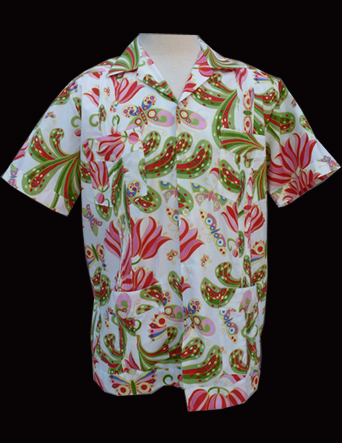 White Butterfly Garden-Short Sleeve-Size Medium/38