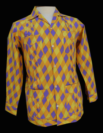 Yellow Purple Harlequin- Long Sleeve- Size XX-Small/32